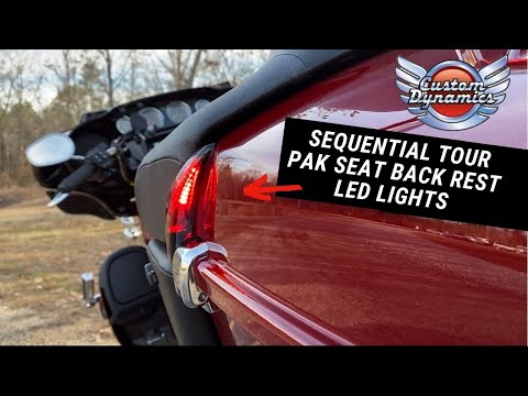 Sequential Tour Pak Seat Back Rest LED Lights for Harley Davidson