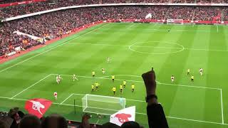 Mustafi Goal vs Watford from Crowd| Arsenal