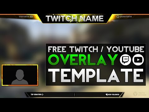 free twitch overlay template psd free download free doovi. Black Bedroom Furniture Sets. Home Design Ideas