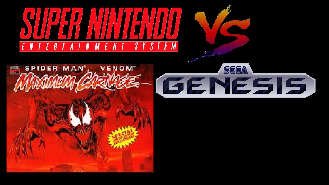 Spider Man And Venom Maximum Carnage Snes Vs Sega Genesis Music Ost