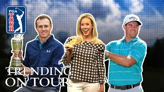 Spieth's Claret Jug Cheers, Open fashion & Pizza pies