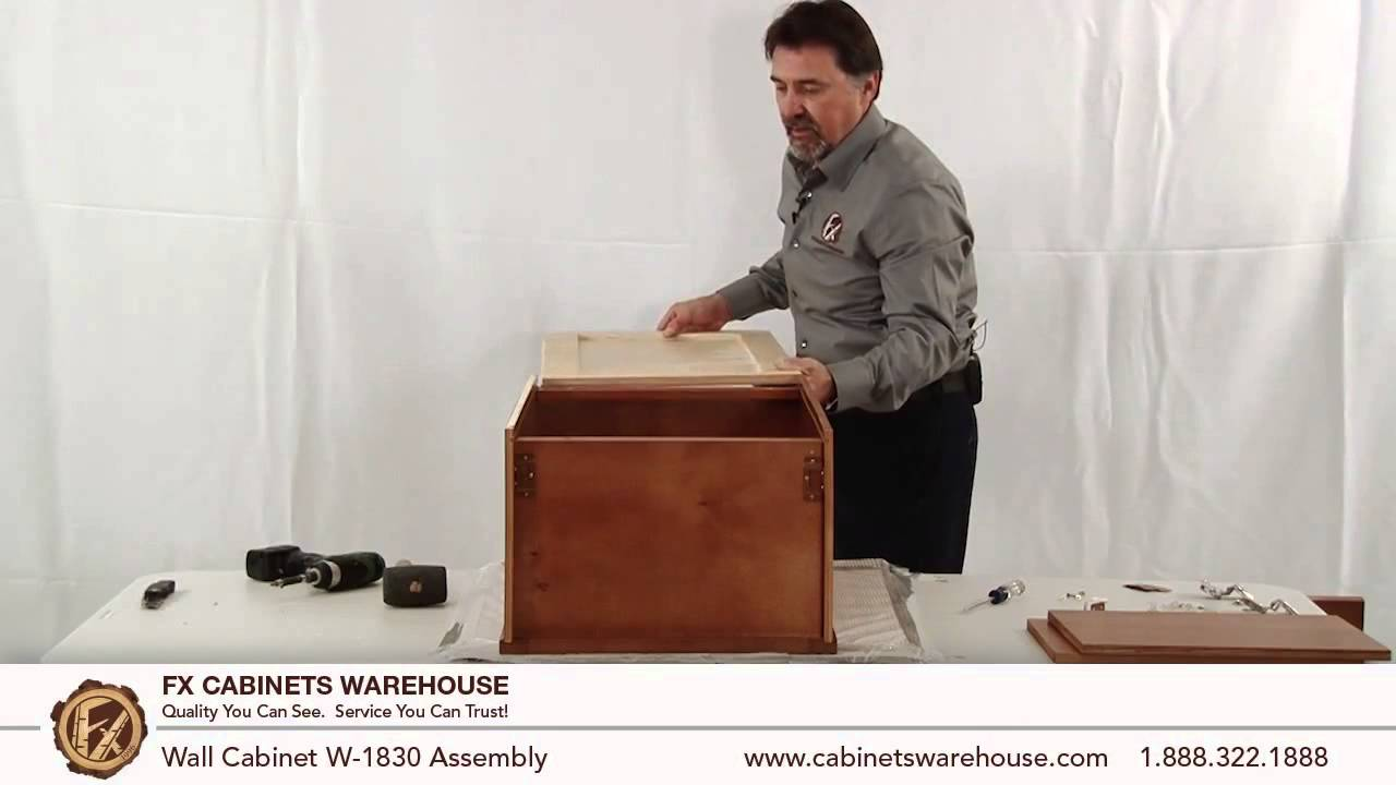 W1830 Cabinet Assembly. FX Cabinetswarehouse