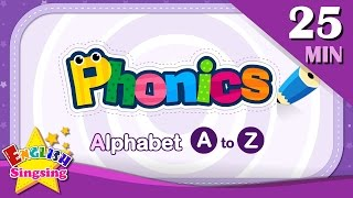 ABC Phonics Alphabet - Letter A to Z  Learning English for kids  Collection of Alphabet Phonics