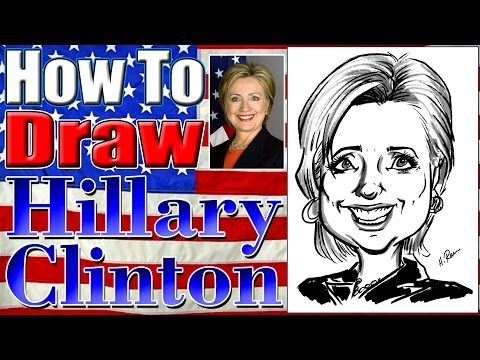 How To Draw A Quick Caricature Hillary Clinton