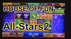 """HOUSE OF FUN Casino Slots How To Play """"HOF ALL-STARS 2"""" On Your Cell   Phone"""