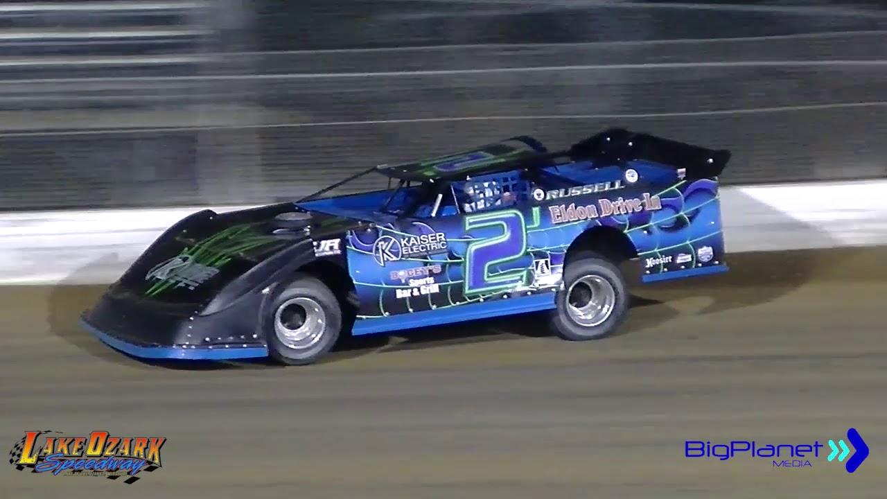Dirt Track Racing Lake of the Ozarks Late Model 4-20-19 Race #1