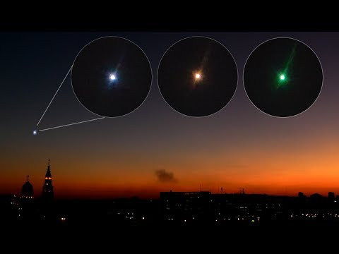 Самая яркая звезда в ночном небе - мерцает Сириус ▶ Вид в телескоп