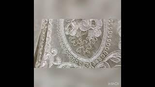 Новинка! Тюль с медальонами и бархатом от салона штор Арсиан Текстиль