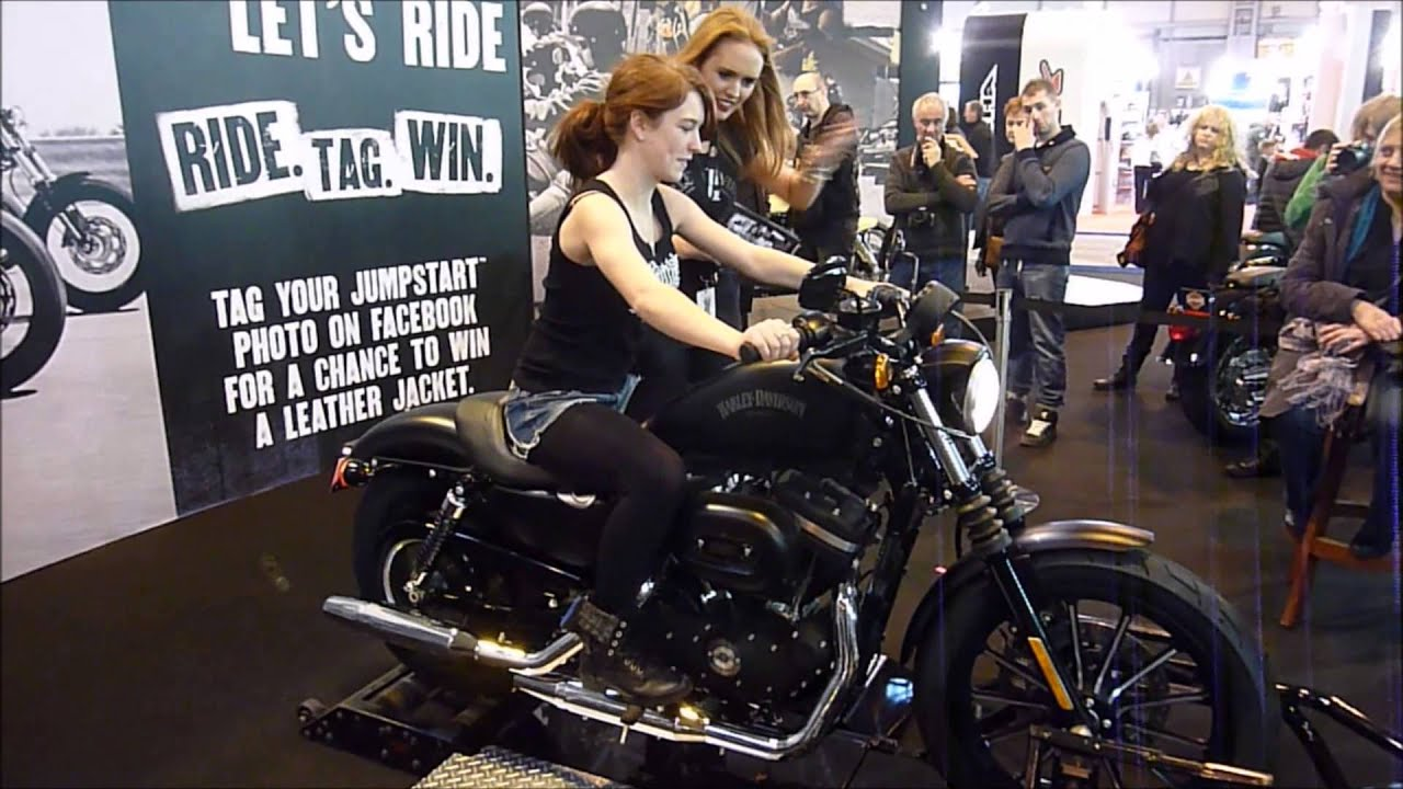 Muslim Girl Wallpaper Free Red Head Girl First Time On Harley Davidson Youtube