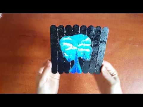 الرسم على الخشب بالوان الاكريليك وطريقة عمل ظل فتاة الجزء الثاني