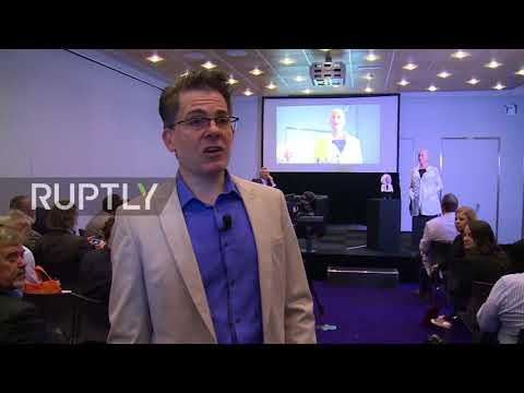Robot Einstein challenges IBC 2017 audience to 'brain games' in Amsterdam