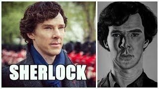 Drawing Sherlock Holmes | Benedict Cumberbatch