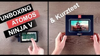 Atomos NINJA V Unboxing Funktionstest mit Canon EOS R