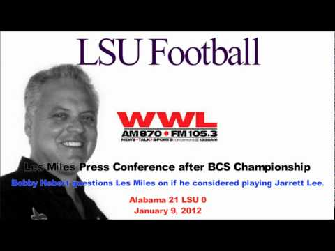 Bobby Hebert Questions Les Miles Audio