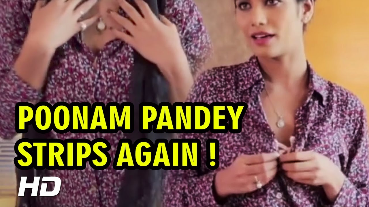 Breast Cancer Awarness Poonam Pandey Strips Again Bold Video