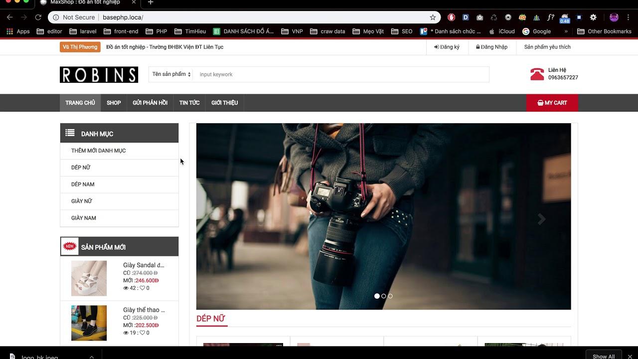 [Đồ án tốt nghiệp - Website bán hàng ] - Chỉnh sửa header website