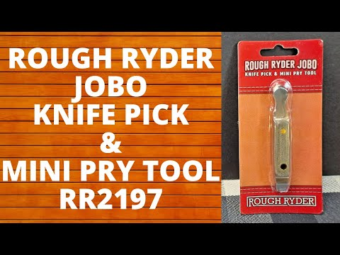 ROUGH RYDER JOBO KNIFE PICK & MINI PRY TOOL,  RR2197, STOCKING STUFFER, EVERYDAY CARRY, EDC,