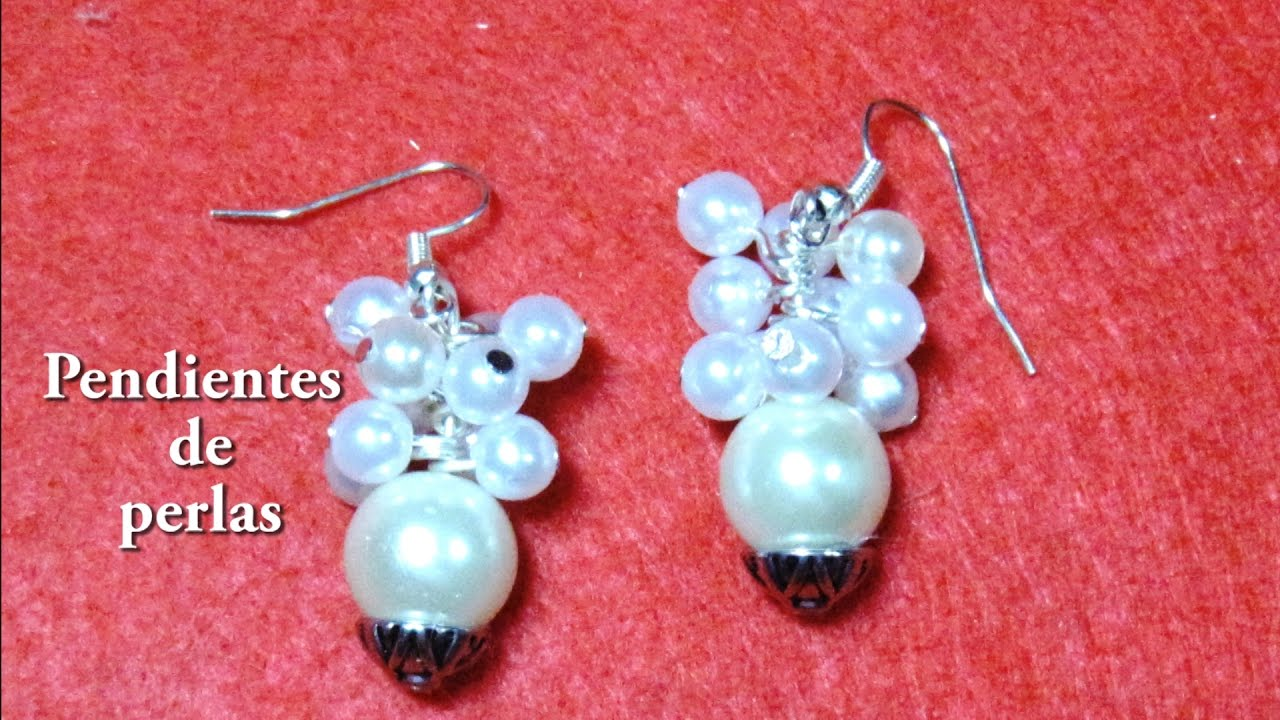 df19e4d229a3  DIY -Pendientes faciles o aretes de perlas  DIY -Places or pearl earrings