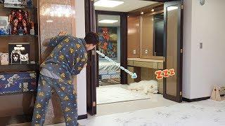 잠든 강아지 몰래 간식을 꺼낼 수 있을까?