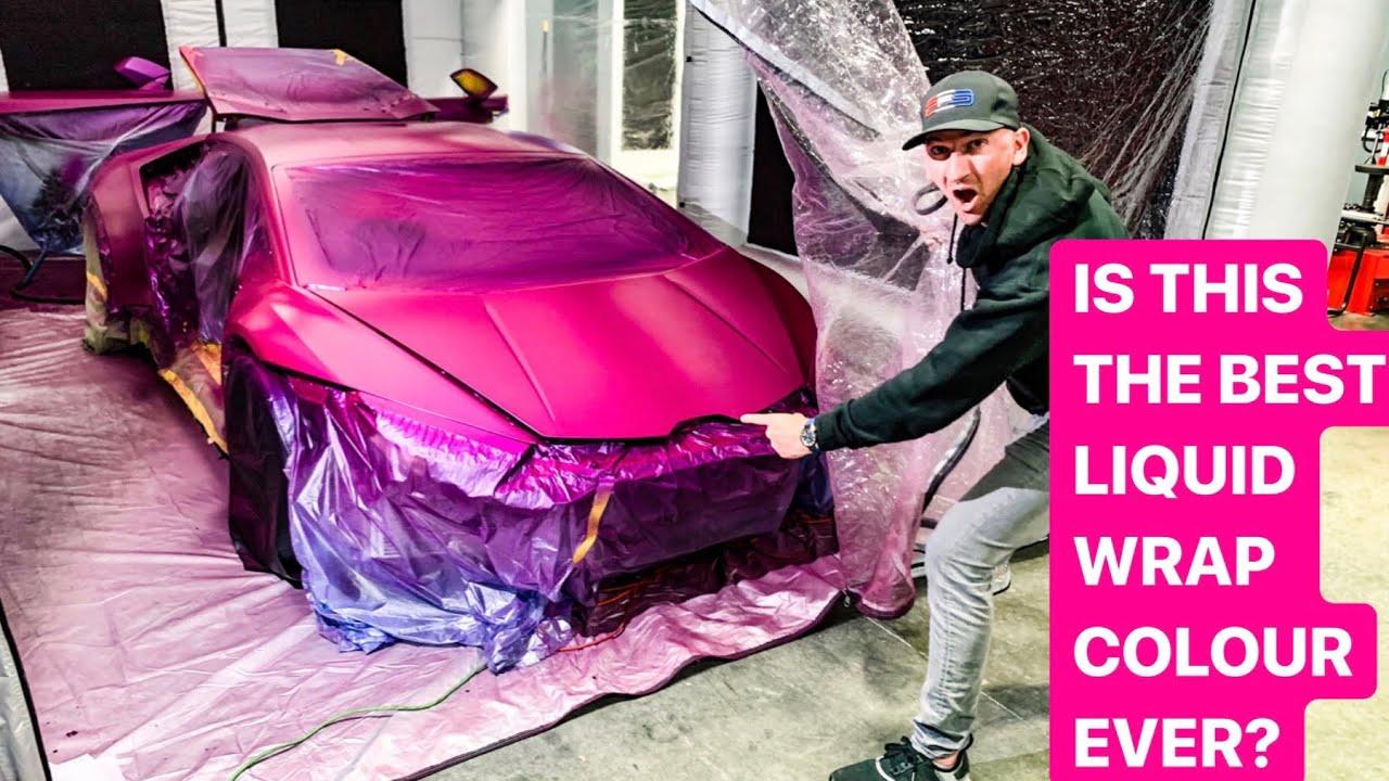 FIRST PINK LIQUID WRAP LAMBORGHINI HURACAN IN THE USA! *1000 HP TWIN TURBO*