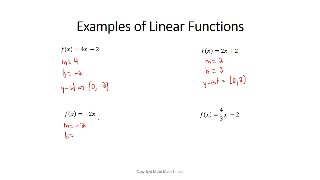 how to find the rule of a linear function