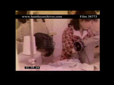 Garment factory in 1980's China.  Archive film 38773