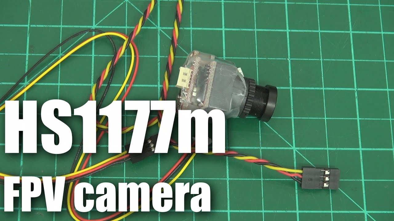 On the bench: HS1177m FPV video camera