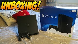 Playstation 4 Pro Console Unboxing! (Sony Playstation 4 Pro 1TB Edition Jet Black Console)