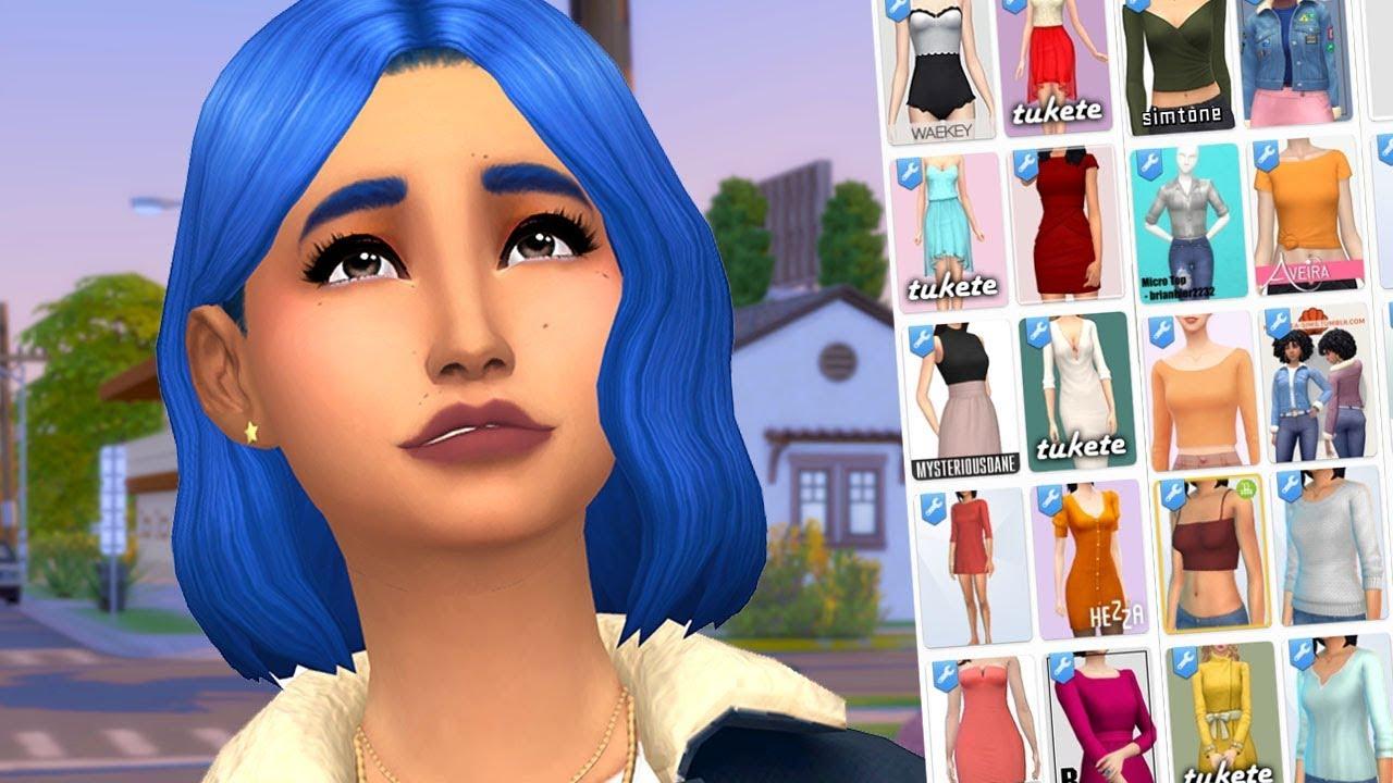 MASSIVE CUSTOM CONTENT HAUL (The Sims 4: CC Shopping)