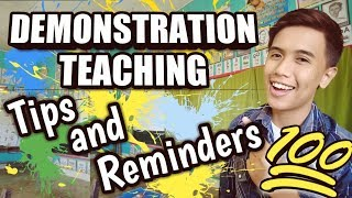 Demonstration Teaching Tips and Reminders 2019-2020 (Tagalog)