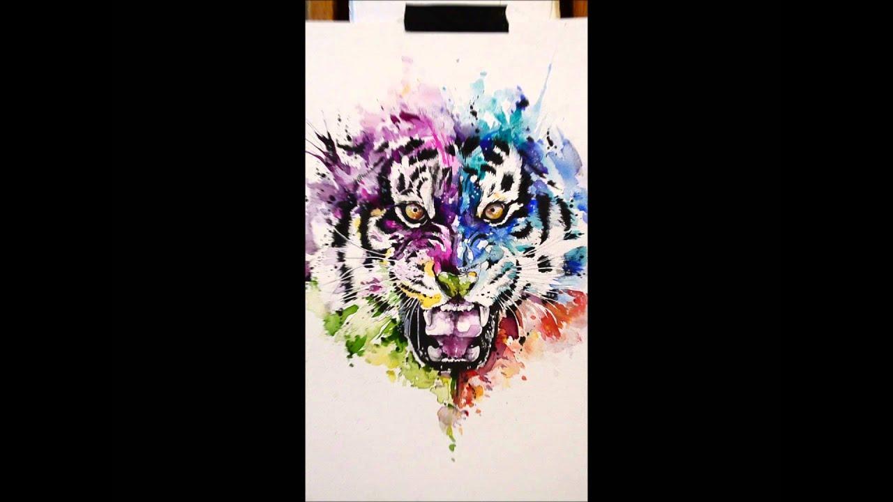 Javi Wolf javi wolf - watercolor tiger - youtube