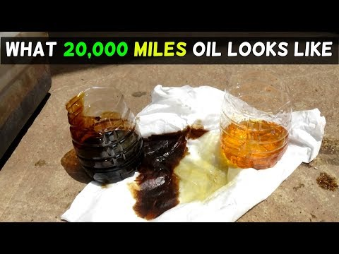 WHAT 20,000 MILES MOBILE 1 OIL CHANGE LOOKS LIKE