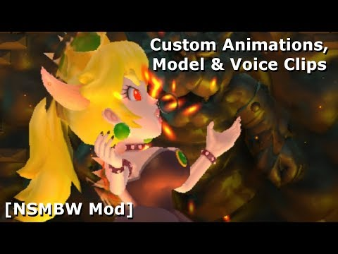 Fight Bowsette in NSMBW [Custom Animations, Model & Voice Clips]