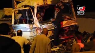 حادث مروري مروع على الطريق الصحراوي بالإسكندرية