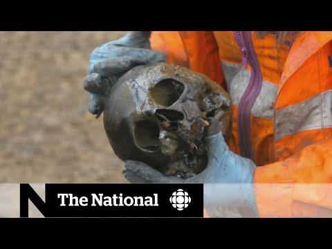 Archaeologists uncover 40,000 skeletons in U.K. railway dig