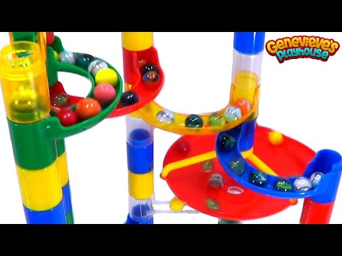 Thumbnail: Learning Colors for Toddlers - Teach Babies with Toy Marble Mazes, Balls, Eggs, Rainbow Candy Fun!