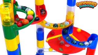 Learning Colors for Toddlers - Teach Babies with Toy Marble Mazes, Balls, Eggs, Rainbow Candy Fun!