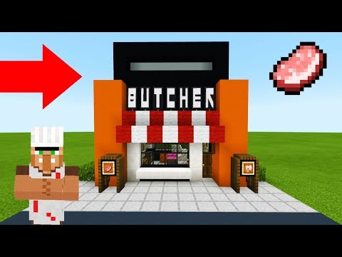 Minecraft Tutorial: How To Make A Modern Butchers Shop