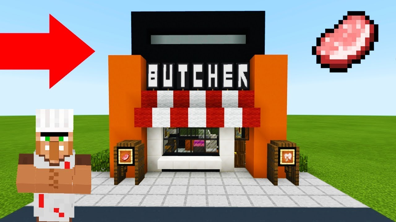Minecraft Tutorial How To Make A Modern Butchers Shop