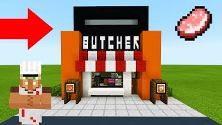 Minecraft Tutorial: How To Make A Modern Butchers Shop 2019 City Tutorial YouTube