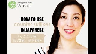 How to use counter suffixes in Japanese | Learn Natural Japanese with Wasabi