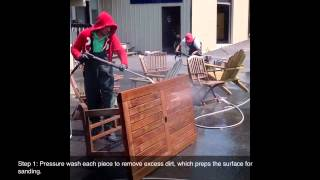 How To Refinish Exterior Teak Furniture With Penofin
