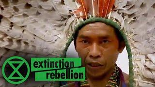 Amazonian Huni Kuin Tribal Chieftain Urges Bolsonaro To Respect Humanity | Extinction Rebellion