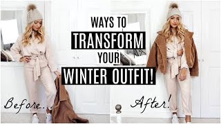 6 EASY WAYS TO TRANSFORM YOUR WINTER OUTFIT! / Fashion Hacks