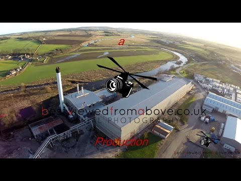 Aerial Video of Inverurie Paper Mill, Aberdeenshire, Scotland