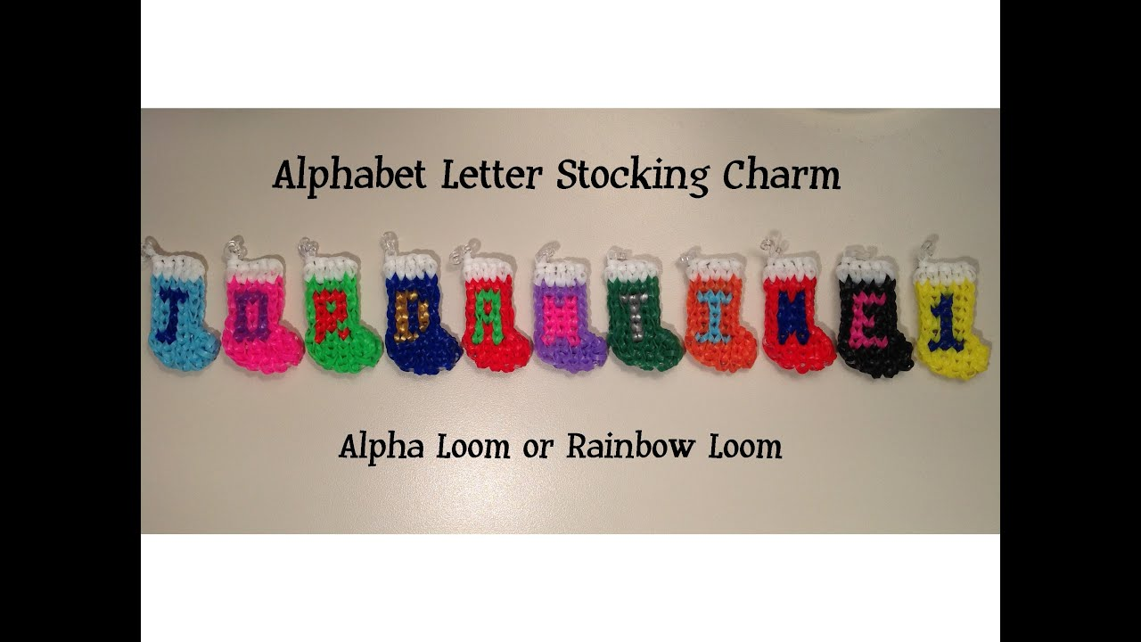 youtube on rainbow loom j watch how charm to letter alphabet make bands