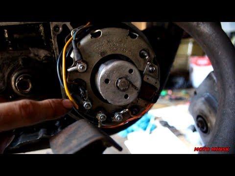 Замена проводки на мотоцикле МИНСК. Жгут от генератора. Часть 1