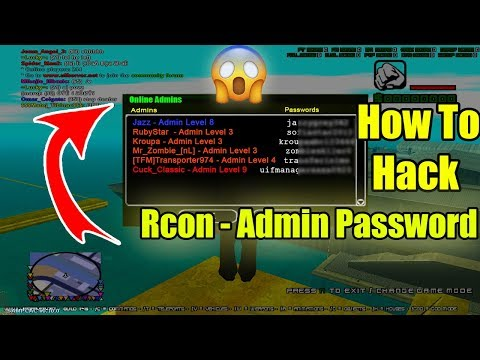 SA MP How To Hack Rcon Password || How To Hack Admin Password | Become To Admin
