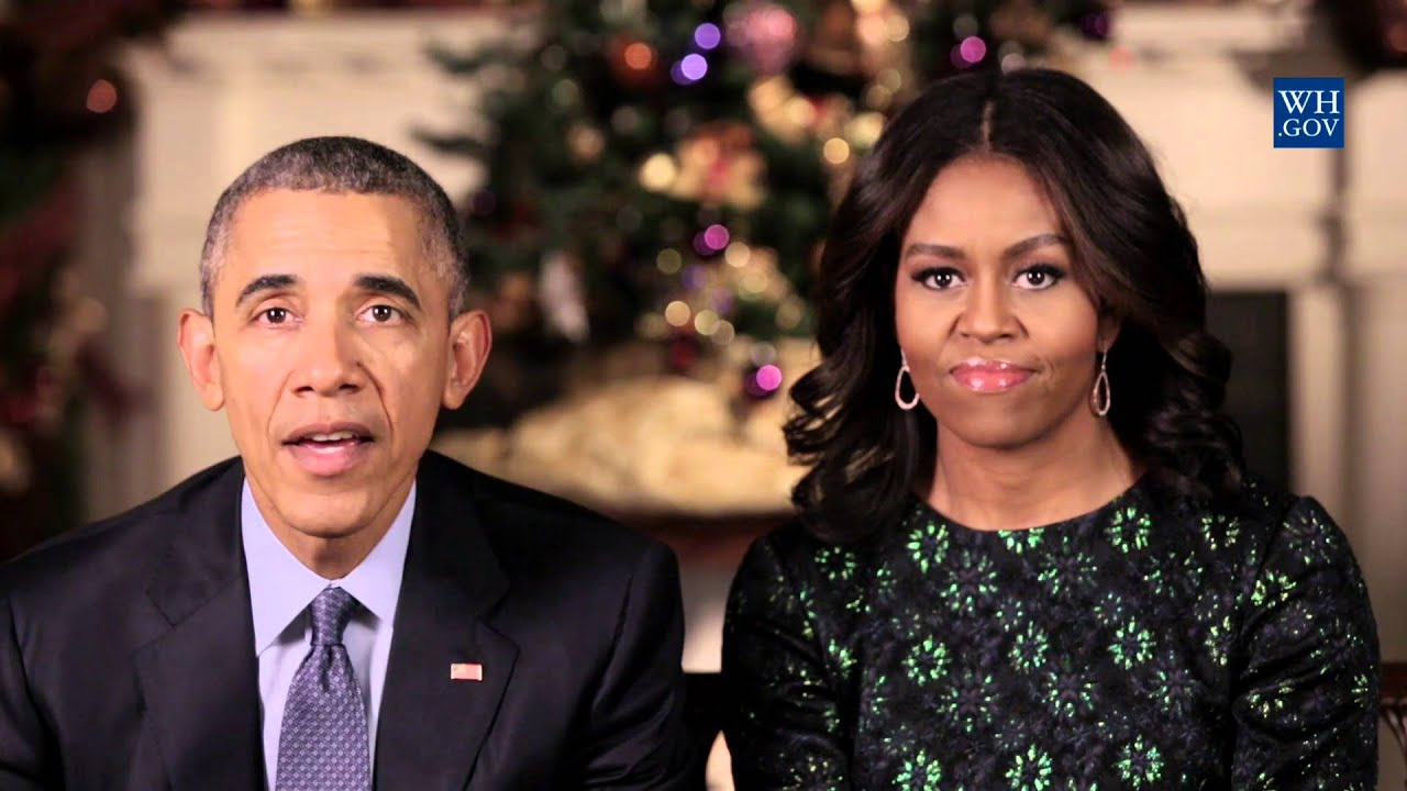 Merry Christmas From The Obamas - 2015 - YouTube