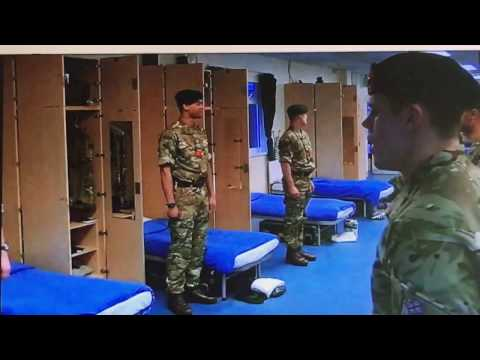 Very funny Royal Marines commando school recruit inspection